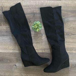 ⬇️ Zigi Soho Black Suede Knee High Boots